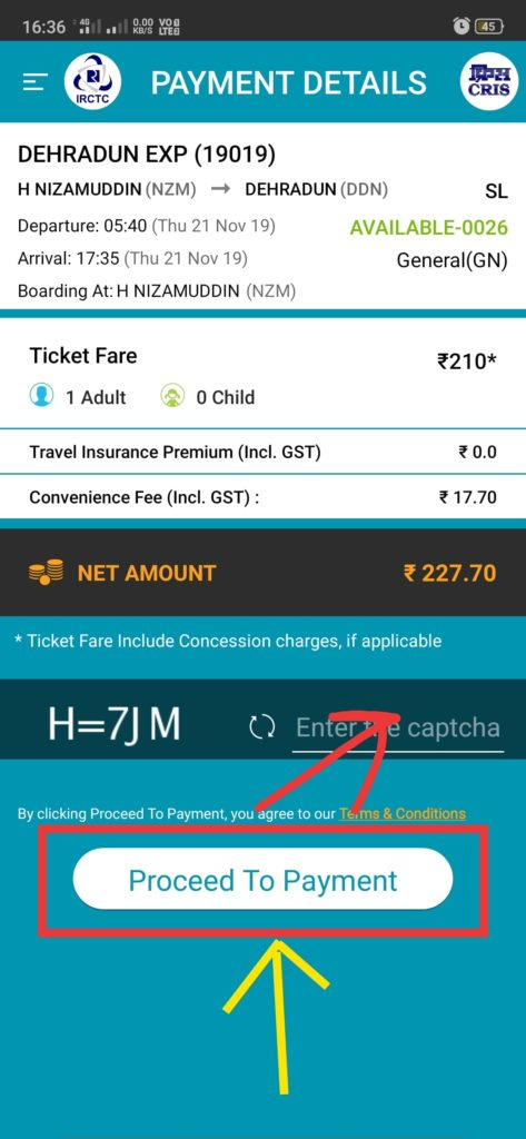 how to book train ticket